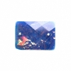 Resin Sew-on Dichroic Style 10pcs 15x21mm Rectangle Blue